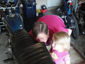 smelling the motorcycle